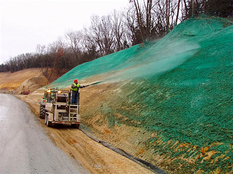 Erosion Control Hydromulching on Slope